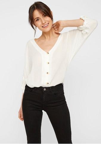 pieces Shirtbluse »PCSANNE«, mit 3/4 Ärmel kaufen