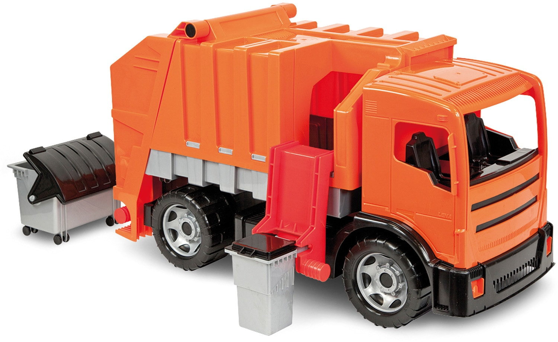 Lena Spielzeug-Müllwagen GIGA TRUCKS, Müllwagen orange Kinder Ab 3-5 Jahren Altersempfehlung Spielzeugfahrzeuge