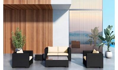 BAIDANI Loungeset »Infinity«, 13 - tlg., 2er Sofa, 2 Sessel, 2 Tische, Alu/Polyester kaufen