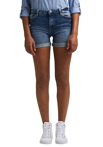 edc by Esprit Shorts, in Denim Optik mit krempelbarem Saum kaufen