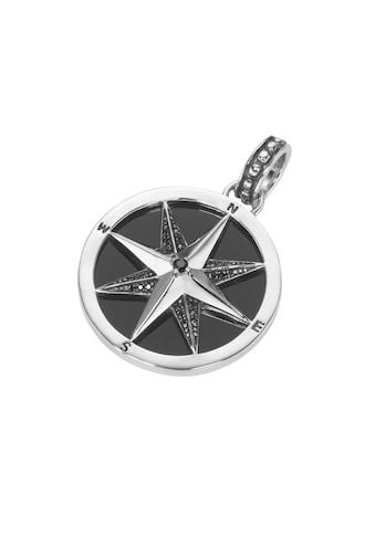 GIORGIO MARTELLO MILANO Kettenanhänger »Kompass, mit Achat und Spinellen in schwarz,... kaufen