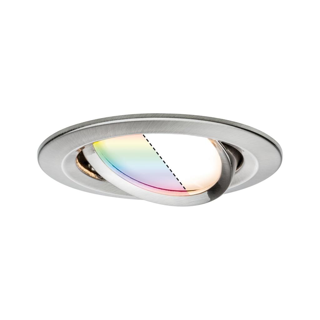 Paulmann LED Einbaustrahler »Nova Plus ZigBee RGBW 1x2,5W Eisen gebürstet 1x2,5W Eisen gebürstet«, 1 St., Warmweiß