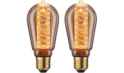 Paulmann »2er Pack 6,4W Innenkolben Spirale E27 gold 1800K« LED - Leuchtmittel, E27, Extra - Warmweiß kaufen