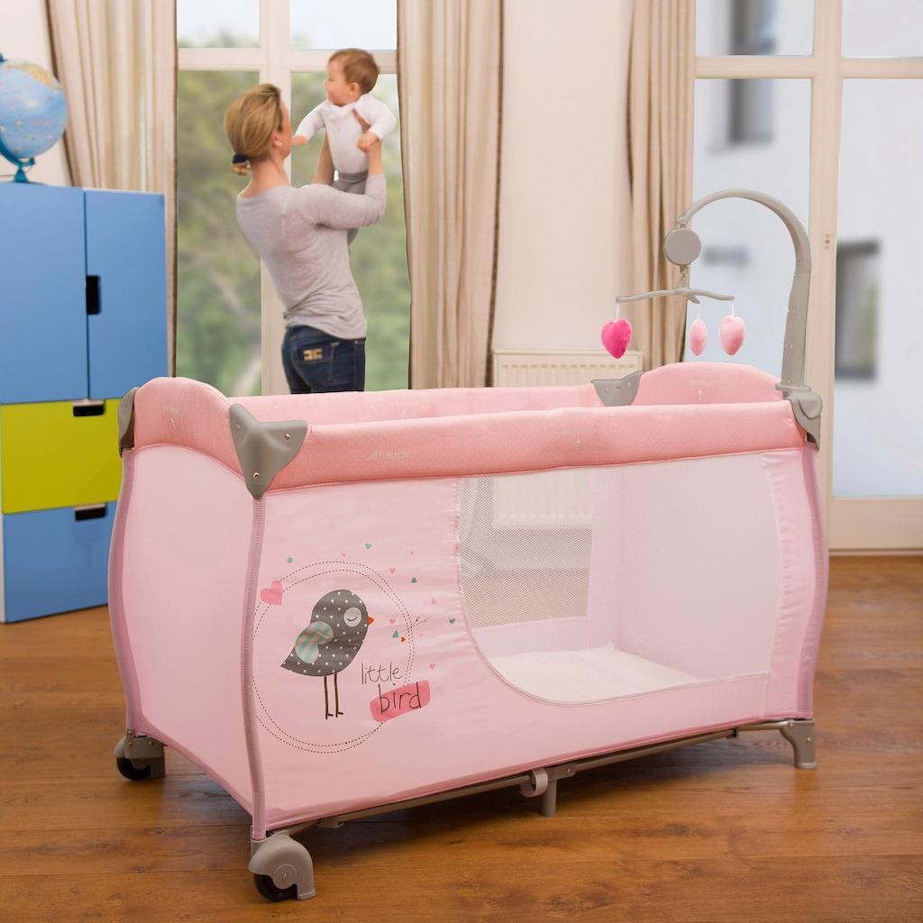 Hauck Baby-Reisebett »Babycenter Birdie Grey«, inlk. Transporttasche