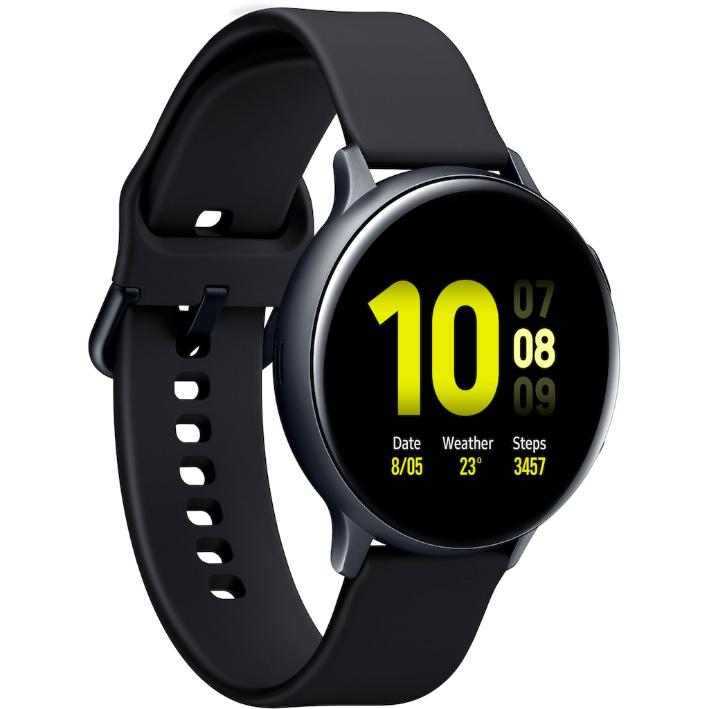 "Samsung Smartwatch »Galaxy Watch Active2 Aluminium, 44 mm, Bluetooth (SM-R820)« (3,4 cm/1,4 "", Gratis dazu: Galaxy Buds+"