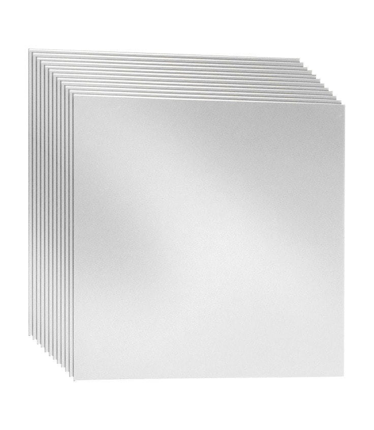 jokey Spiegelfliesen Kristallglasspiegel-Kacheln, (Set, 12 St.), selbstklebend silberfarben Raumteiler, Paravents Spiegel SOFORT LIEFERBARE Wohnaccessoires