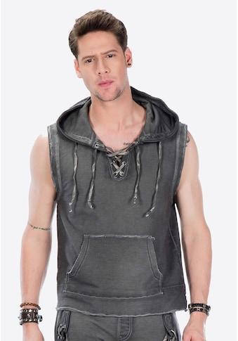 Cipo & Baxx Kapuzensweatshirt, in ärmellosem Design kaufen