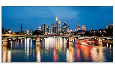 Artland Glasbild »Frankfurt am Main zur Nacht«, Deutschland, (1 St.) kaufen