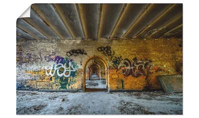 Artland Wandbild »Tor in die Vergangenheit«, Gebäude, (1 St.), in vielen Größen &... kaufen