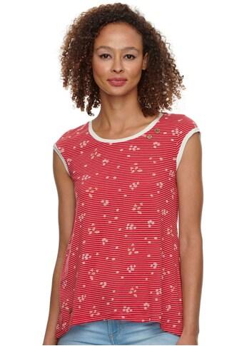 Ragwear Plus T-Shirt »DOMINICA PLUS«, mit natürlichem Allover-Kamillen-Blumen Druck kaufen