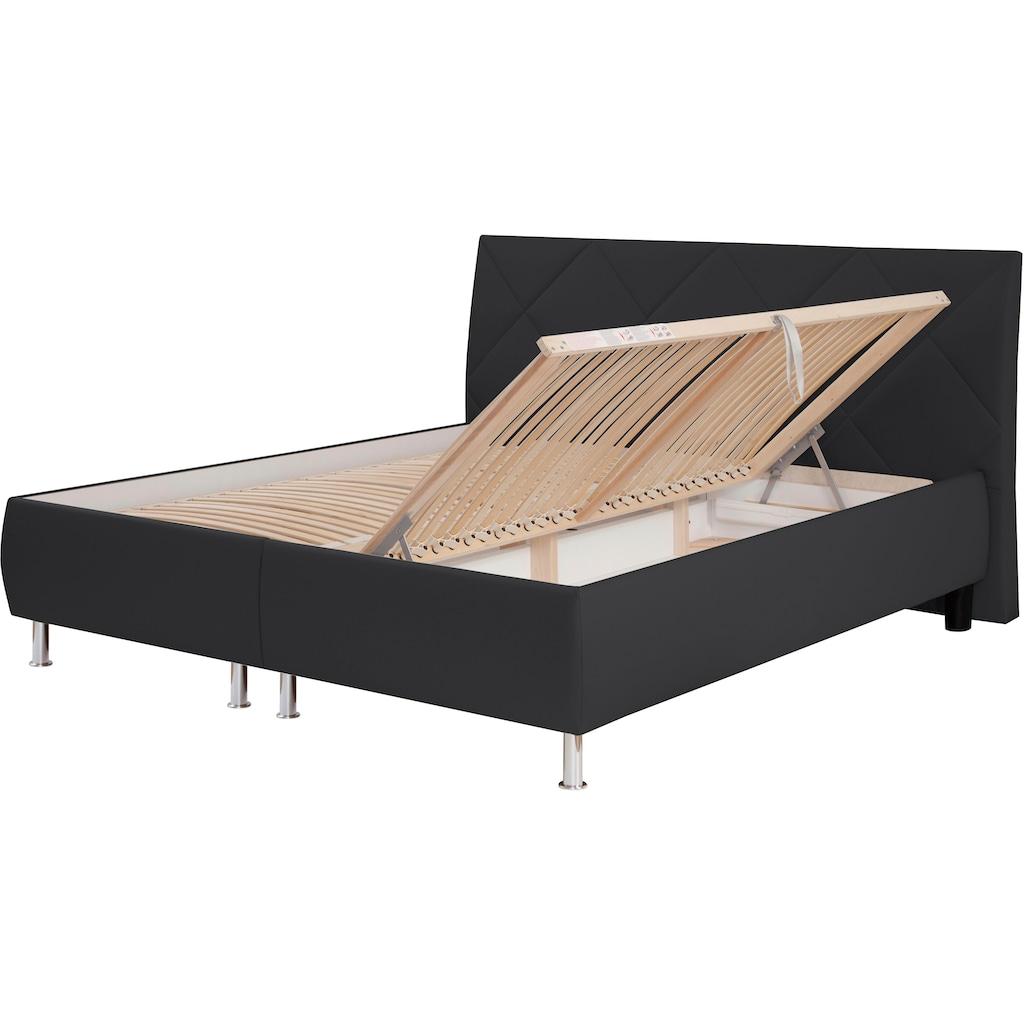 ADA trendline Polsterbett »Rosella«, inklusive Lattenrost und Bettkasten, wahlweise mit Matratze, in verschiedenen Größen und Härtegraden