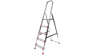 SZ METALL Stehleiter, Aluminium, 3,07 m, 5-stufig kaufen