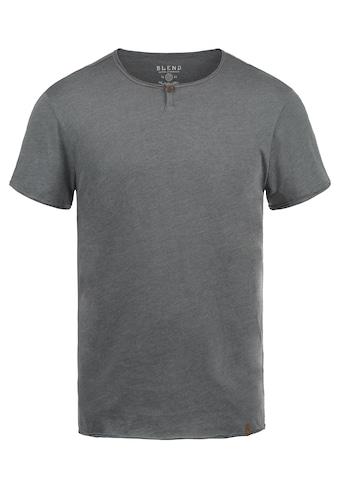 Blend Rundhalsshirt »Ireto«, Kurzarmshirt mit Knopfleiste kaufen