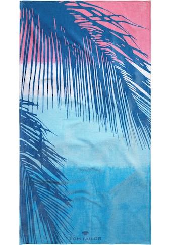 TOM TAILOR Strandtuch »Palmblätter«, (1 St.), mit trendigem Motiv kaufen