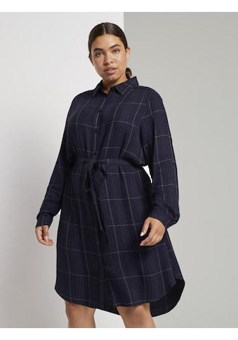TOM TAILOR MY TRUE ME Hemdblusenkleid »Kariertes Hemdkleid mit Bindegürtel« kaufen