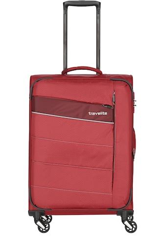 travelite Weichgepäck-Trolley »Kite rot, 64 cm«, 4 Rollen kaufen