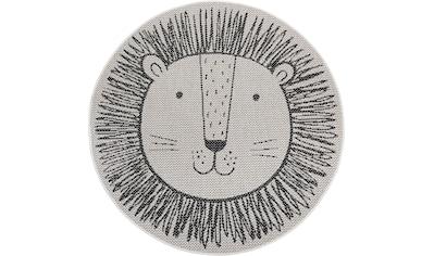 Lüttenhütt Kinderteppich »Löwe«, rund, 3 mm Höhe, In- und Outdoor geeignet kaufen