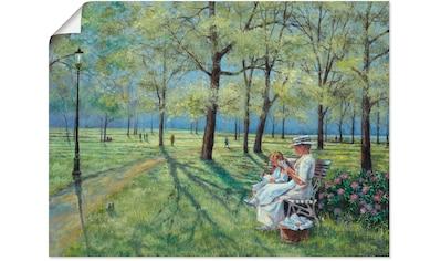 Artland Wandbild »Im Park«, Wiesen & Bäume, (1 St.), in vielen Größen & Produktarten -... kaufen