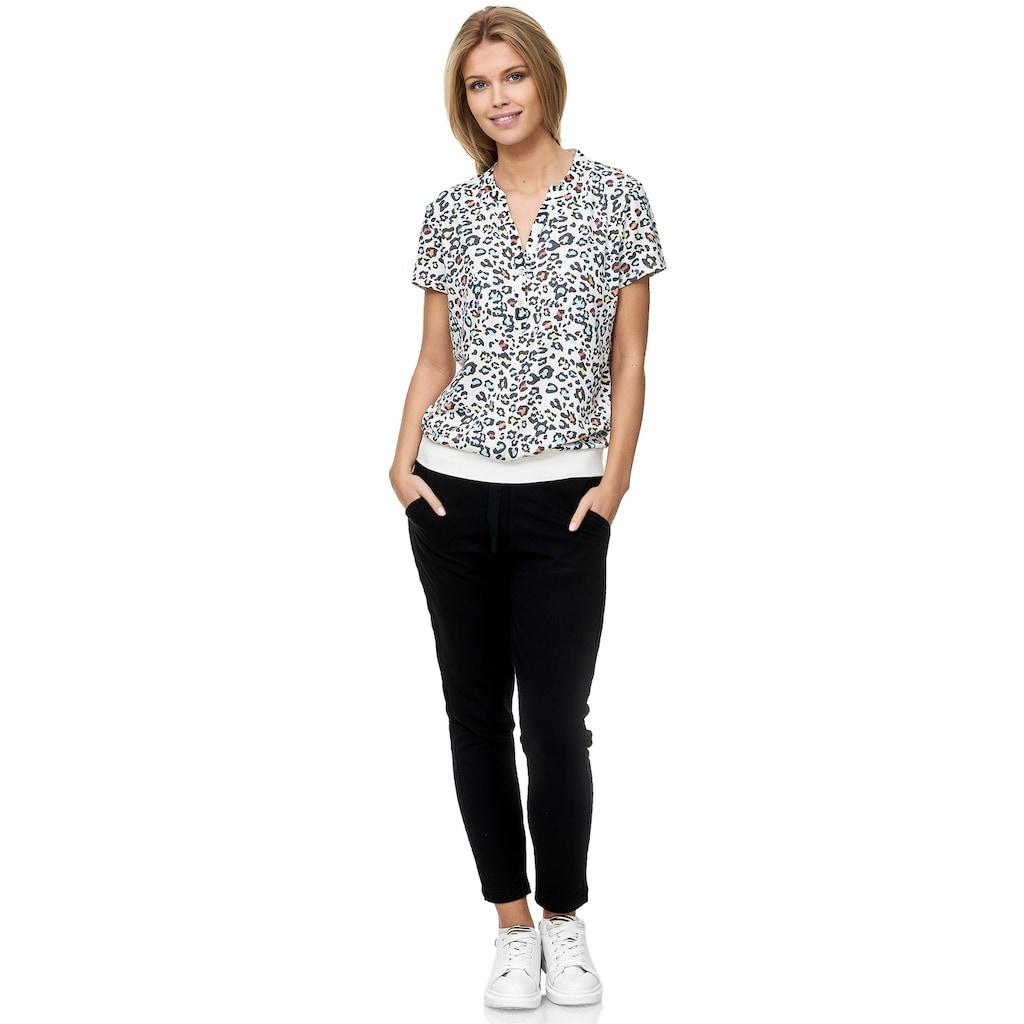 Decay Klassische Bluse, mit trendigem Leoprint