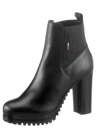 Tommy Jeans High-Heel-Stiefelette »ESSENTIALS HIGH HEEL BOOT«, mit Logostickerei kaufen
