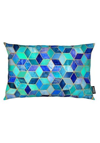 Dekokissen, »Blue Cubes«, Juniqe kaufen