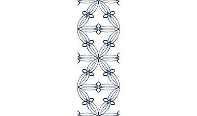 queence Vinyltapete »Muster-Blau«, 90 x 250 cm, selbstklebend kaufen