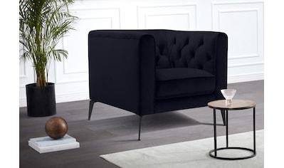 Leonique Chesterfield-Sessel »Narmada«, mit dekorativer Knopfheftung im Rückenteil und... kaufen