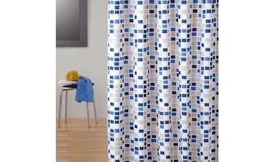 MSV Duschvorhang »Premium Mosaico Blue« Breite 180 cm kaufen