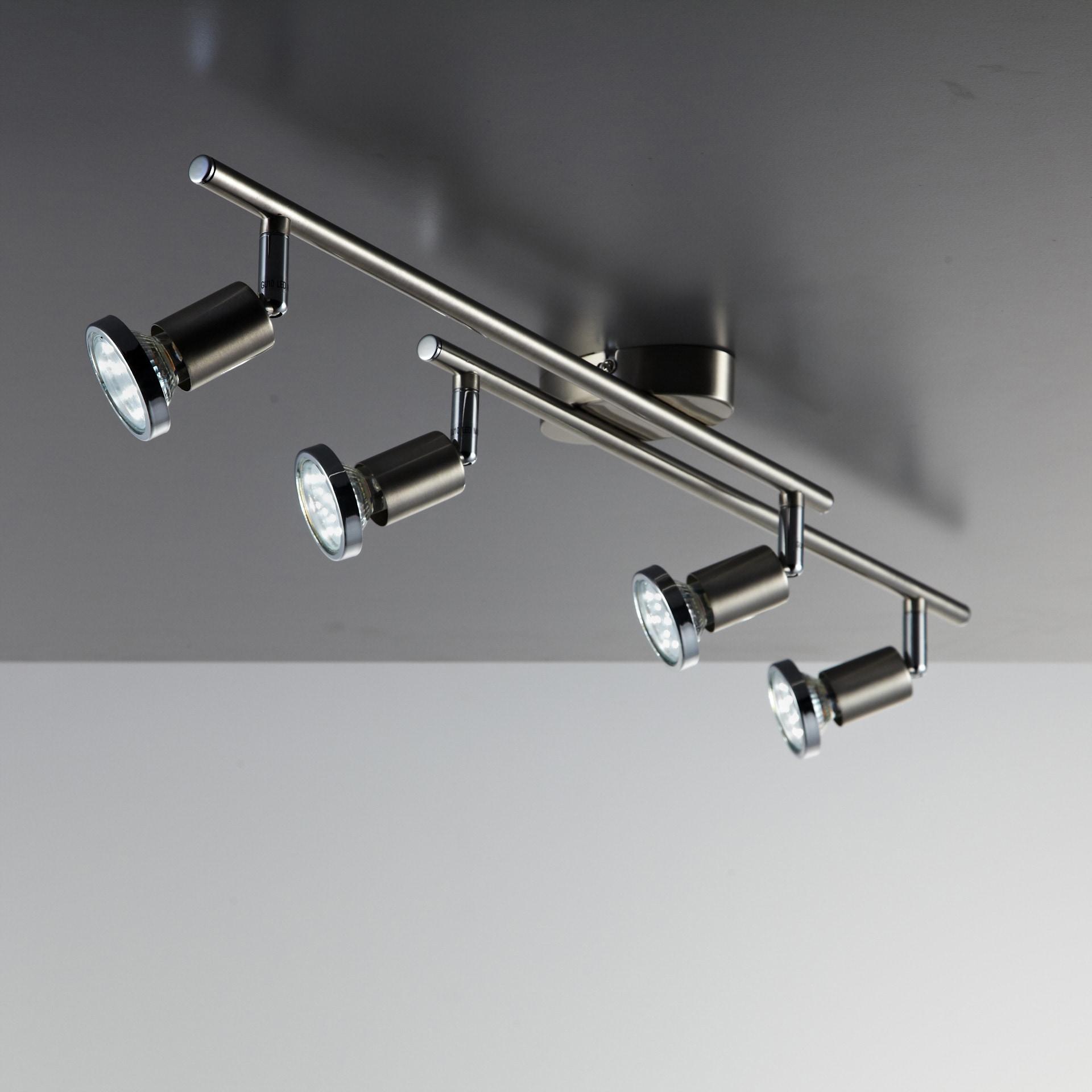 B.K.Licht LED Deckenspot Mika 4, GU10, Warmweiß, LED Deckenleuchte Wohnzimmer schwenkbar inkl. 3W GU10 Metall Deckenstrahler