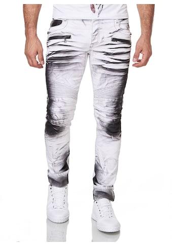 KINGZ Slim-fit-Jeans, im Batik-Look kaufen