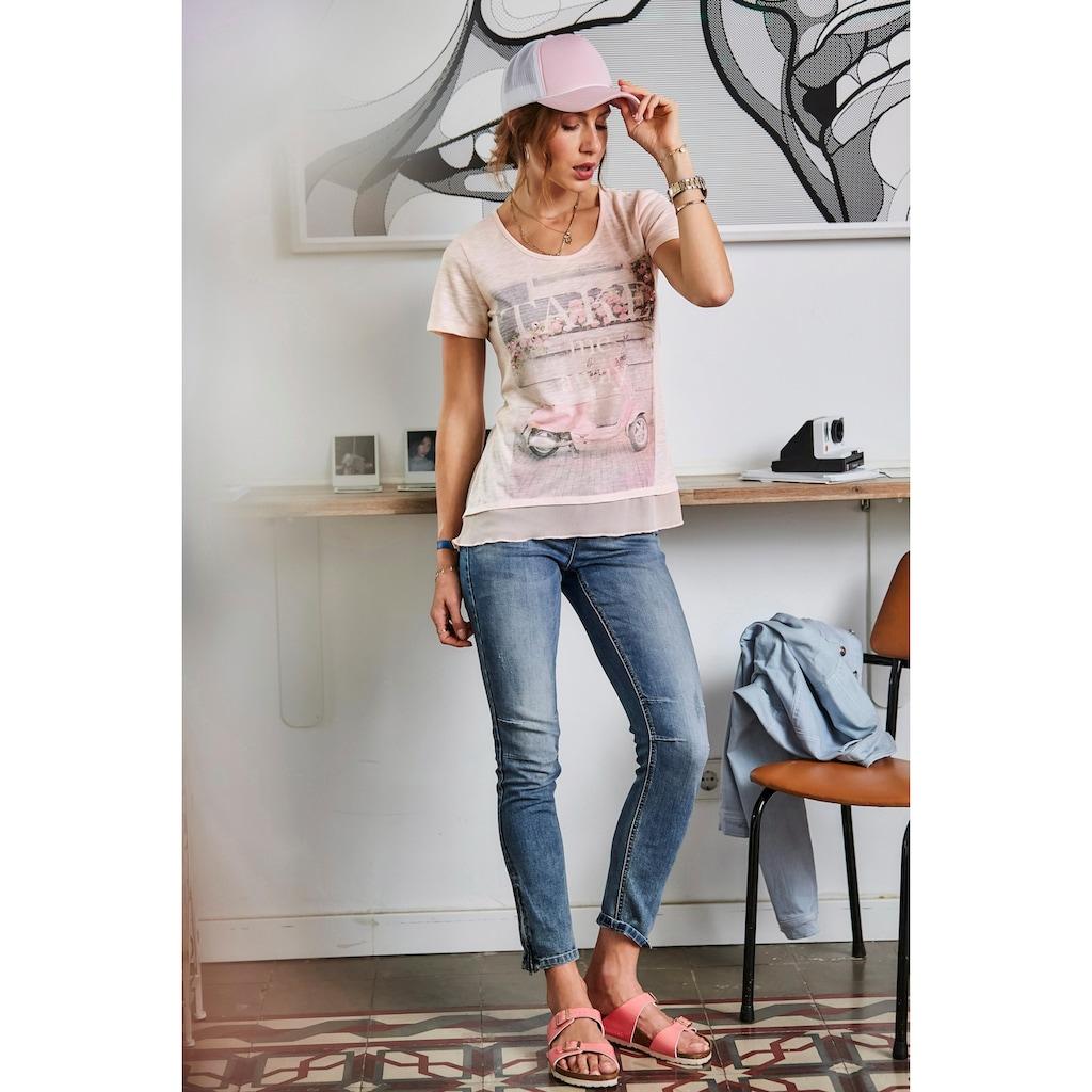 Aniston CASUAL Röhrenjeans, mit Reißverschluss am Beinabschluss