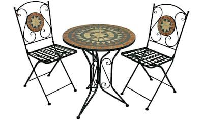 GARDEN PLEASURE Balkonset »Pular«, 3 - tlg., 2 Stühle, Tisch 60x70 cm kaufen