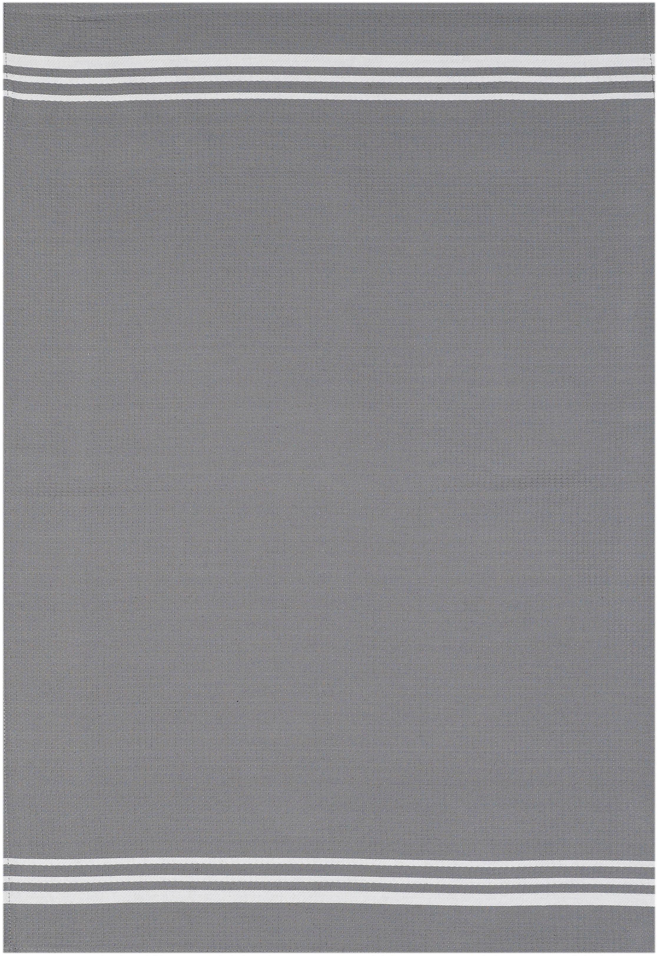 stuco Geschirrtuch Waffel, farbig, (Set, 3 tlg.) grau Geschirrtücher Küchenhelfer Haushaltswaren