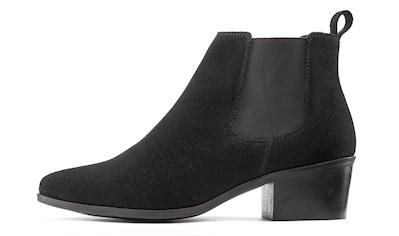 LASCANA Stiefelette, aus Veloursleder Chelsea Boots im modischen Cowboy-Look kaufen