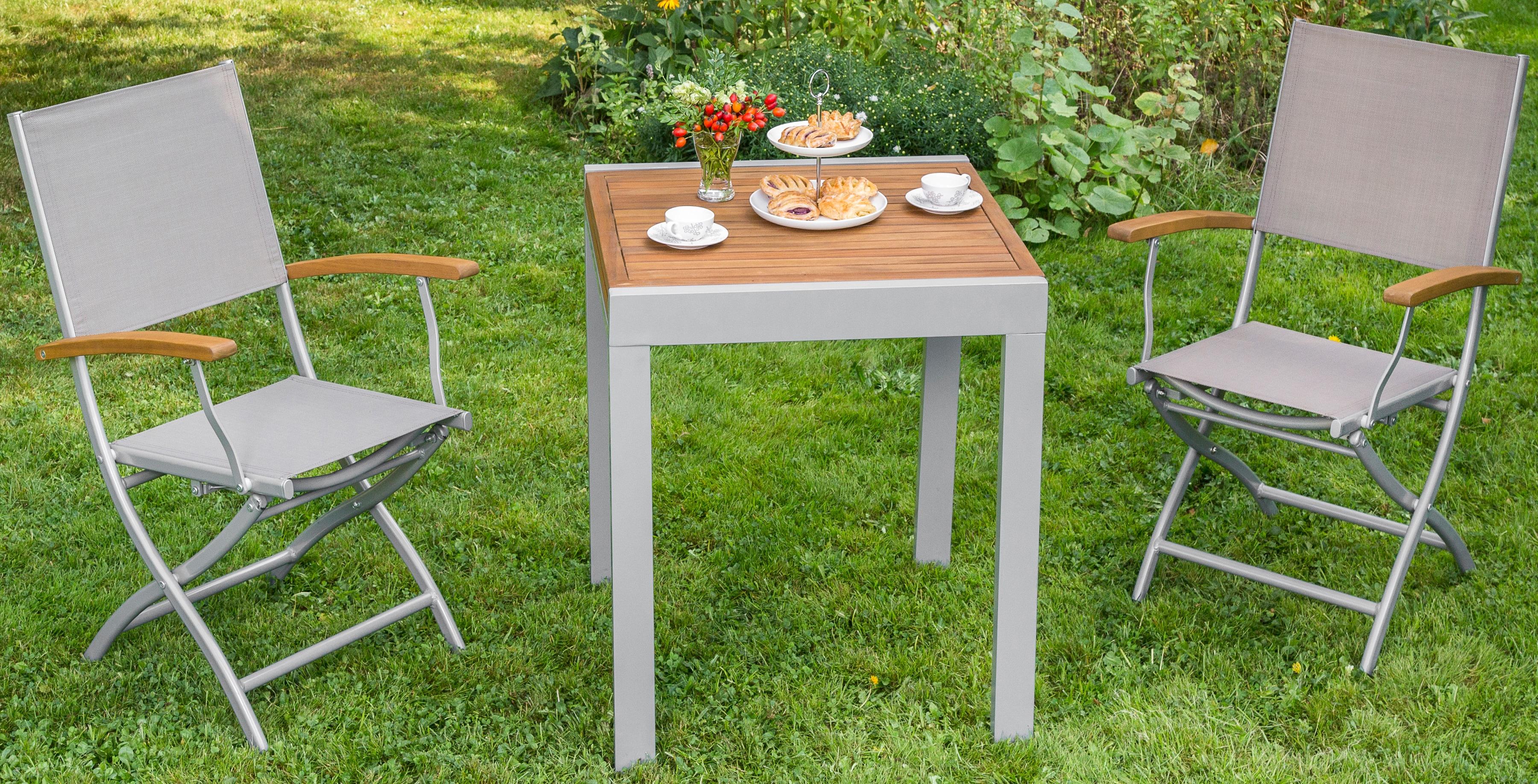 MERXX Gartentisch Balkonauszieh-tisch, Akazienholz/Alu, ausziehbar, 130x65 cm, braun | Garten > Balkon > Balkontische | Merxx