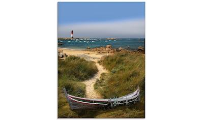 Artland Glasbild »Das alte Boot in den Dünen«, Küste, (1 St.) kaufen
