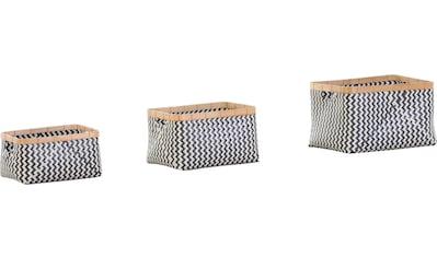 Gutmann Factory Aufbewahrungskorb »Borgholm«, mit Bambusrahmen kaufen