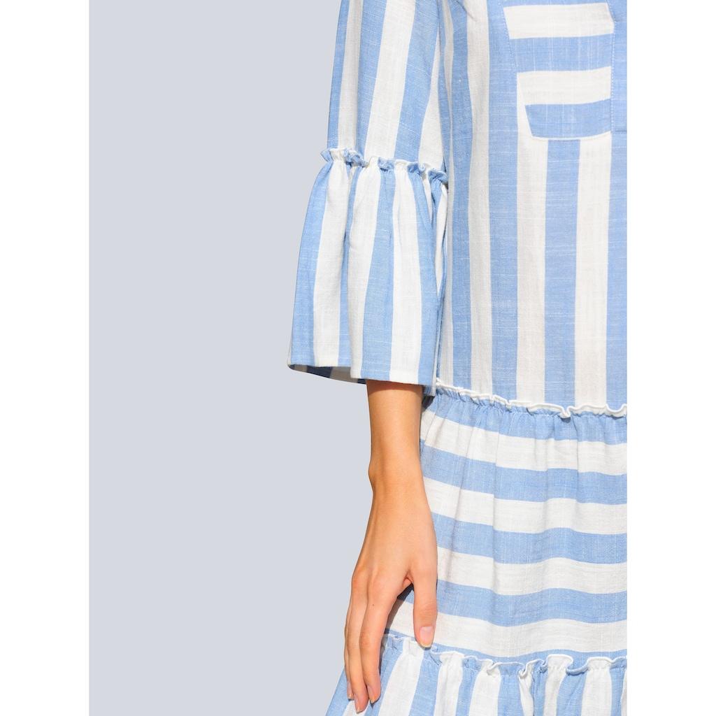 Alba Moda Strandkleid, mit Leinen
