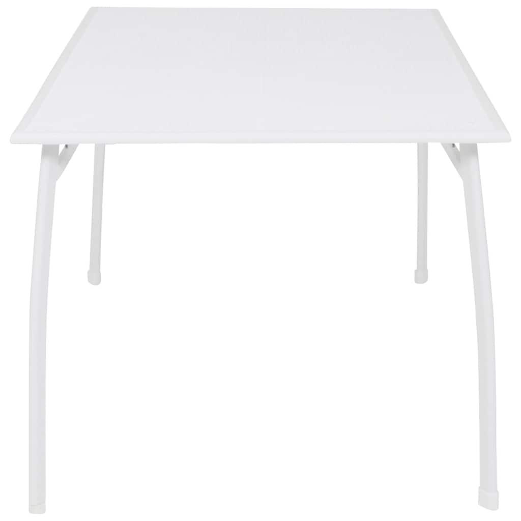 GREEMOTION Gartentisch »Toulouse«, Stahl/Kunststoff, verstellbar, 140x90 cm, weiß