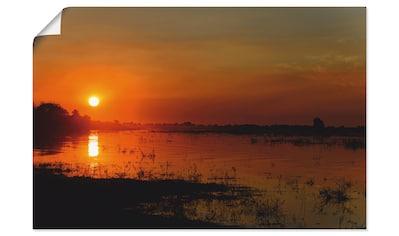 Artland Wandbild »Sonnenuntergang am Fluss Chobe«, Afrika, (1 St.), in vielen Größen &... kaufen