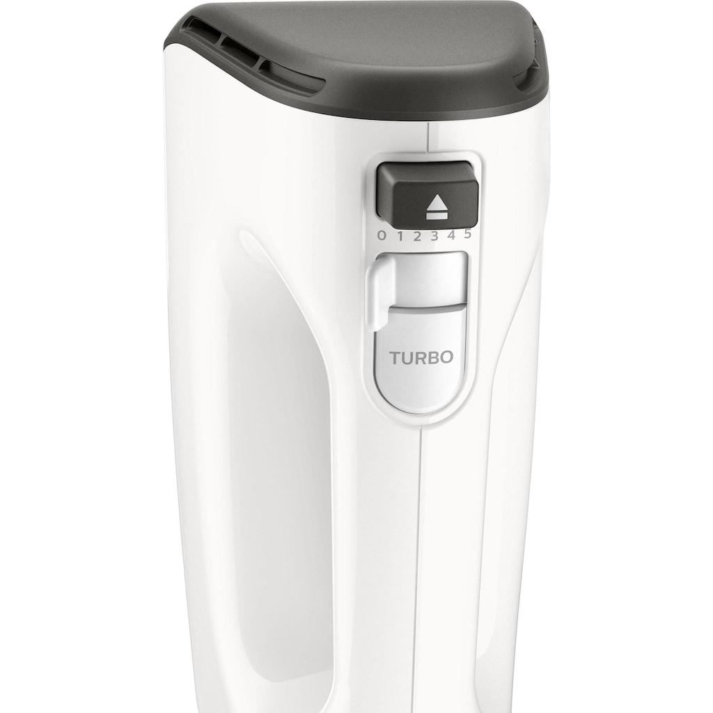 Philips Handmixer »HR3746/00«, 450 W, 5 Geschwindigkeiten + Turbo, weiß/grau