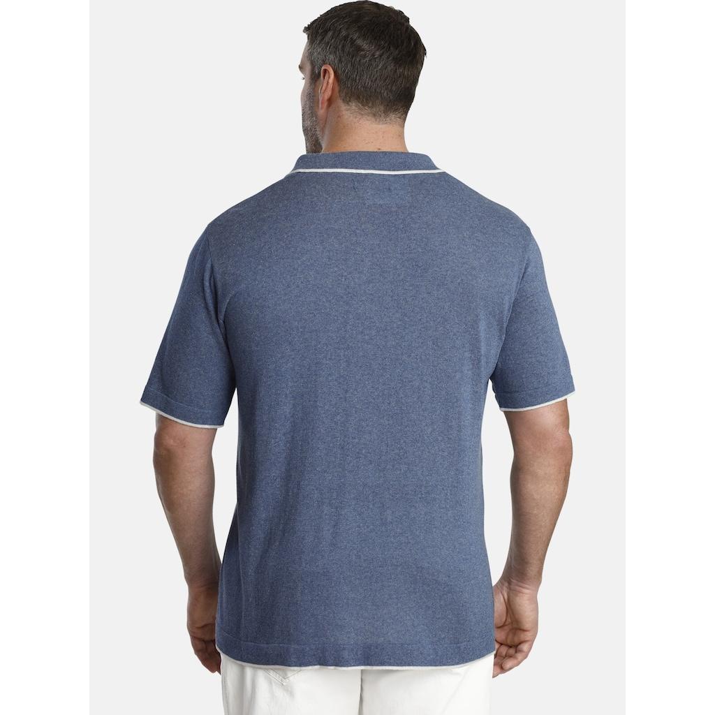 Charles Colby Poloshirt »EARL STEVE«, Strickpolo im Reto-Look
