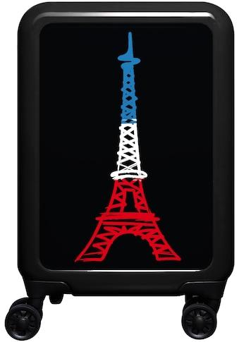 meinTrolley Hartschalen-Trolley »Eiffelturm, 77 cm«, 4 Rollen, Made in Germany kaufen