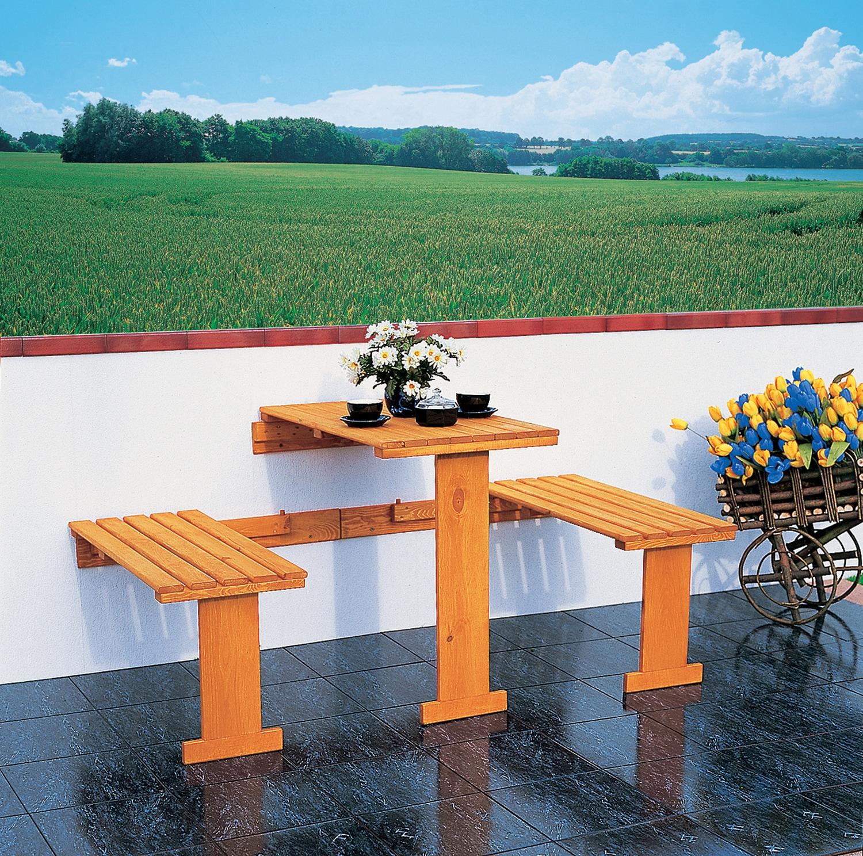 PROMADINO Gartenmöbelset 3-tlg klappbar inkl Auflagen