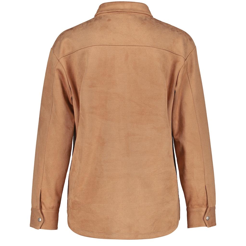 GERRY WEBER Langarmbluse »Hemd aus Velourslederimitat«