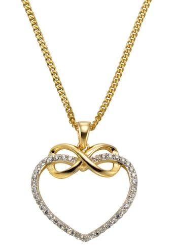 Firetti Kette mit Anhänger »Herz mit Infinity-Unendlichkeitsschleife«, mit Zirkonia,... kaufen
