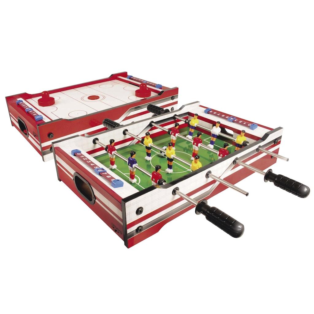 Carromco Multifunktionstisch »Multi Spiel FLIP-XM«, 2in1 Kicker/Gleithockey