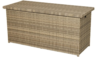 PLOSS Kissenbox »Rabida«, 145x73x58 cm, Polyrattan, naturfarben - braun kaufen
