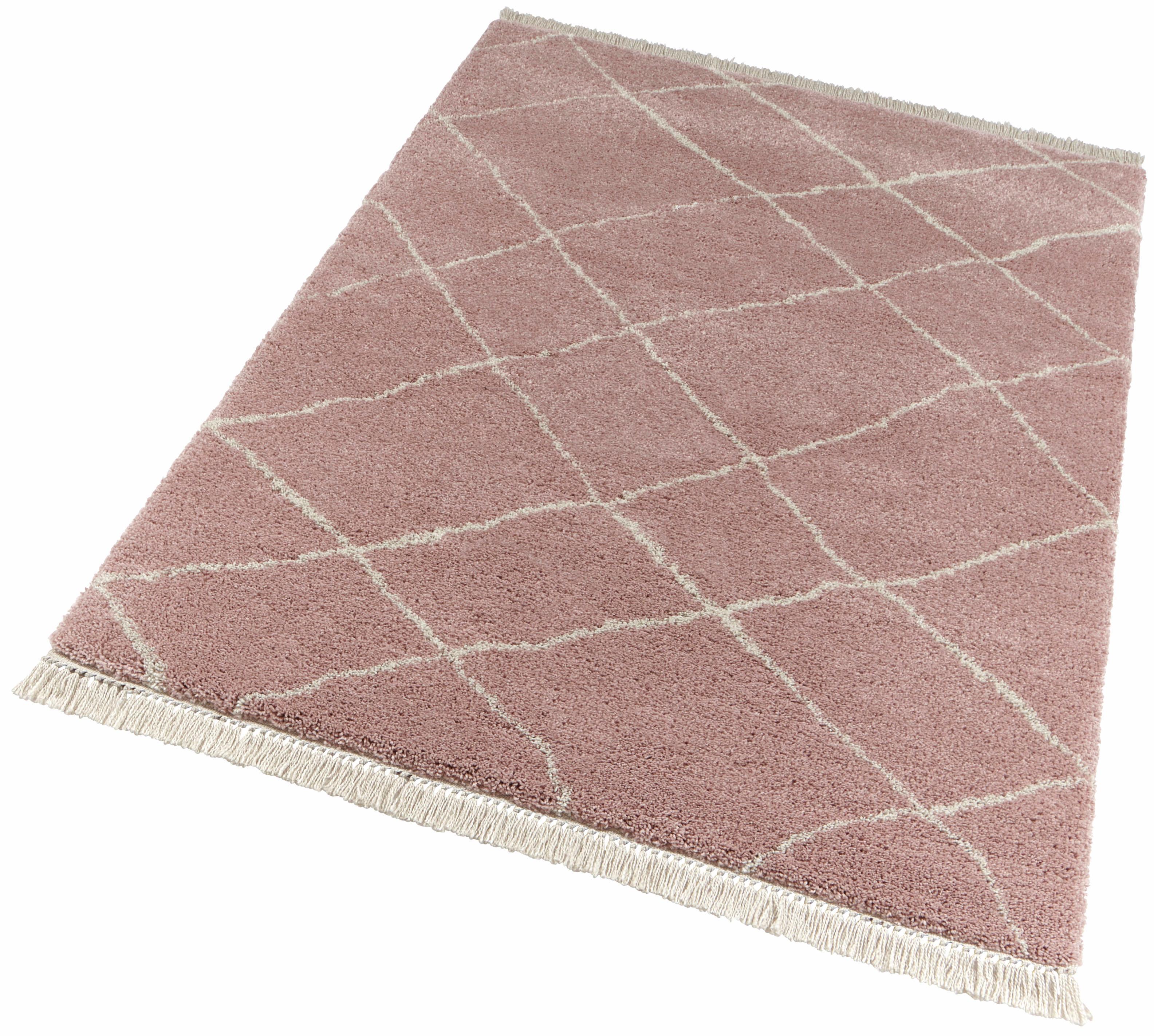 Hochflor-Teppich Primrose freundin Home Collection rechteckig Höhe 35 mm maschinell gewebt