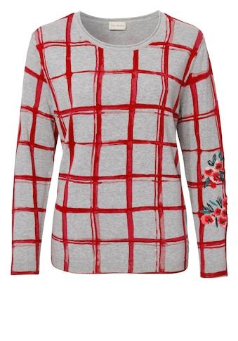 VIA APPIA Süßer Pullover mit Gittermuster kaufen
